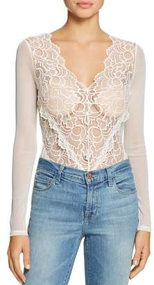GUESS Sariyah Sheer Lace & Mesh Bodysuit