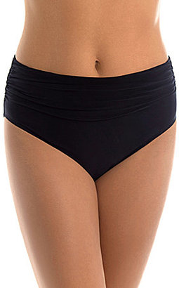 Magicsuit Solid Jersey Brief Shirred Bottom $72 thestylecure.com