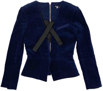 Balmain Blue Velvet Jackets