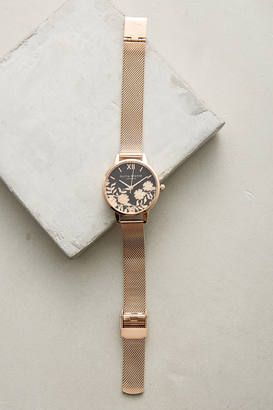 Olivia Burton Laced Dial Watch $148 thestylecure.com