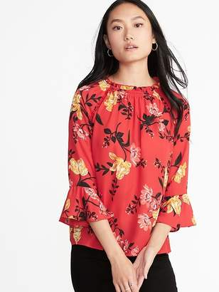 Old Navy Ruffled Georgette Bell-Sleeve Blouse for Women