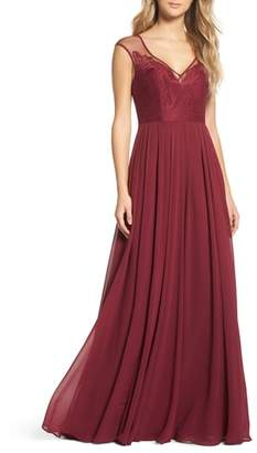 Paige Hayley Occasions Mixed Media A-Line Gown