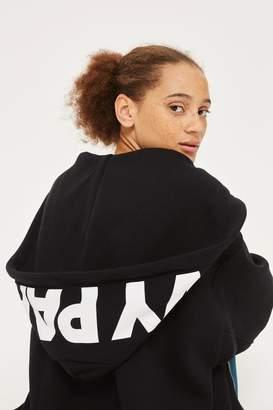Ivy park Logo zip through hoodie