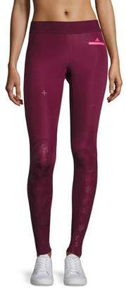 adidas by Stella McCartney Training Recovery Compression Tights/Leggings, Cherry Wood