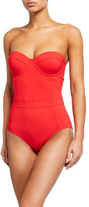 Tory Burch Lipsi Solid Underwire One-Piece Swimsuit