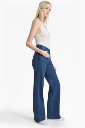 French Connection Ash Wide Leg Denim Jeans