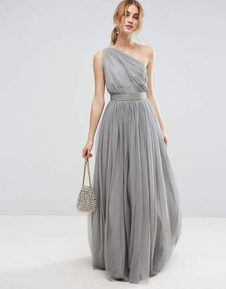 ASOS PREMIUM Tulle One Shoulder Maxi Dress $98 thestylecure.com
