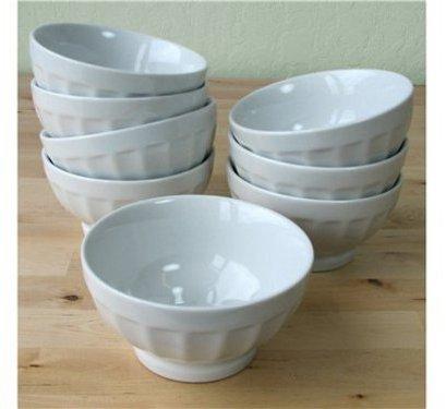 Bia Cordon Blue Cordon Bleu Set of 8 Latte Bowls, White
