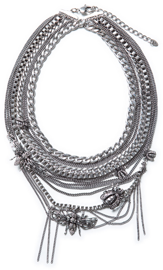 Zara Silver Braided Chain Necklace