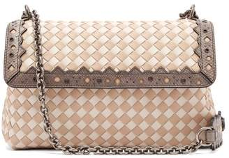 Bottega Veneta Olimpia Small Intrecciato Leather Cross Body Bag - Womens - White Multi