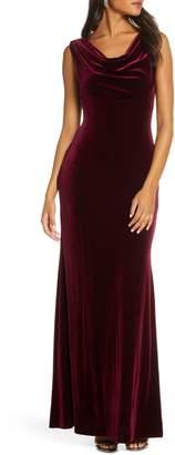 Vince Camuto Cowl Neck Velvet Gown