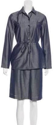 Etcetera by Edmond Chin Tonal Pencil Skirt Suit Set