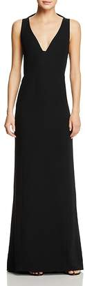 Emporio Armani Butterfly Ruffle Back Cutout Gown