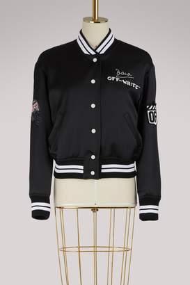 Off-White Off White Embroidered varsity jacket