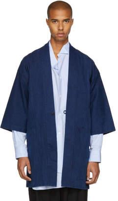 Blue Blue Japan Indigo Worn-Out Hanten Jacket
