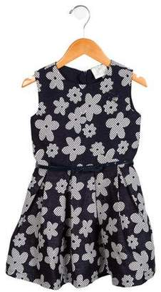 Le Chic Girls' Floral Pleated Dress