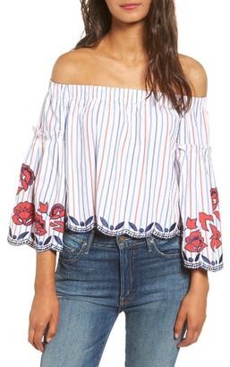 Women's Parker Dane Off The Shoulder Blouse $238 thestylecure.com