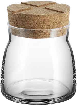 Kosta Boda Orrefors Bruk Clear Jar with Cork Lid - Clear - Small