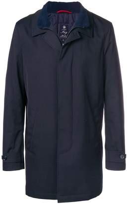 Fay zipped single breasted coat