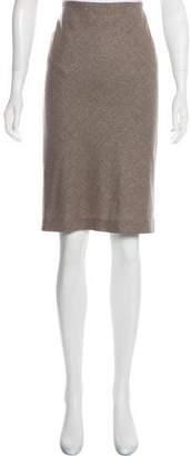 Brunello Cucinelli Metallic Virgin Wool Skirt