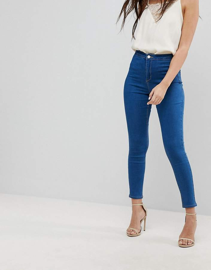 – Vice – Sehr stretchige Skinny-Jeans mit hohem Bund
