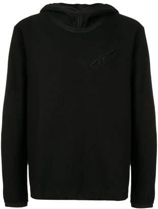 Ten C hooded knit sweater