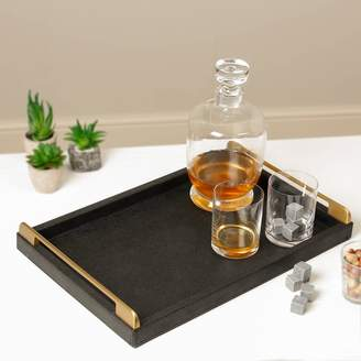 STUDY Dibor Gentleman's Faux Leather Serving Tray