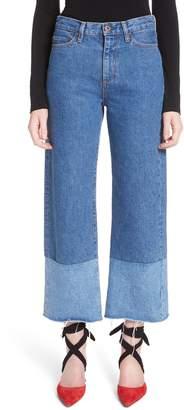 Simon Miller High Waist Wide Leg Jeans