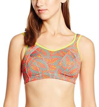 Shock Absorber Women's Active Multi Sports Bra, Multicolore (Imprimé Fleurs Rouges)