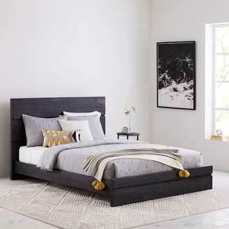 west elm Emmerson® Modern Reclaimed Wood Bed - Ink Black