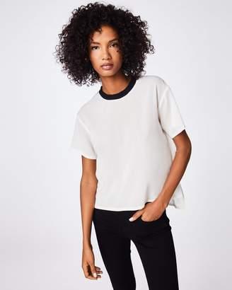 Nicole Miller Solid Silk Blend T-shirt
