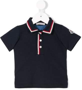 Moncler striped trim polo shirt