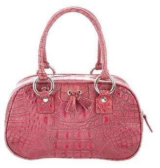 Isabella Fiore Embossed Leather Crossbody Bag