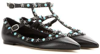 Valentino Starstudded leather ballerinas