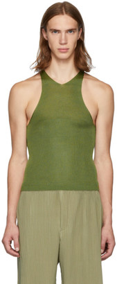 Judy Turner Green Silk Barcelona Tank Top