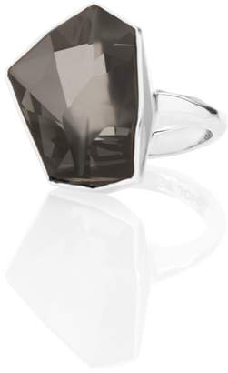 St. John Swarovski Crystal Geo Cocktail Ring
