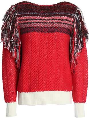 Marc Jacobs (マーク ジェイコブス) - マーク ジェイコブス フリンジトリム コットン混ジャカード セーター