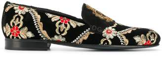 Dolce & Gabbana logo embroidered loafers