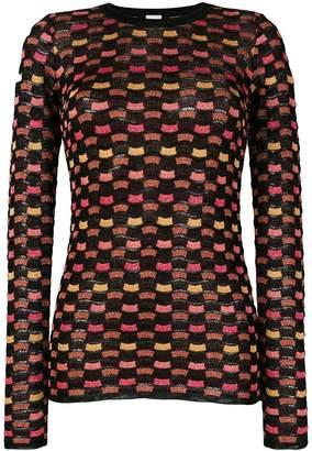 M Missoni wave pattern jumper