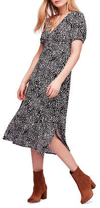 Free People Looking for Love V-Neck Midi Dress