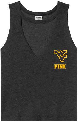 PINK West Virginia University Choker Neck Muscle Tank
