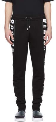Versus Black Logo Lounge Pants