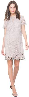 Juicy Couture Embellished Leopard Lace Shift Dress
