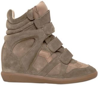 Etoile 80mm Bekett Suede Wedge Sneakers $655 thestylecure.com