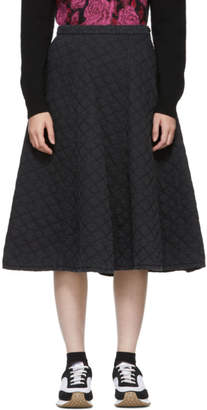Comme des Garcons Black Quilted Skirt