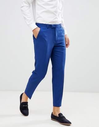 Blue Cross Asos Design ASOS Skinny Crop Smart Trousers In Hatch Nep