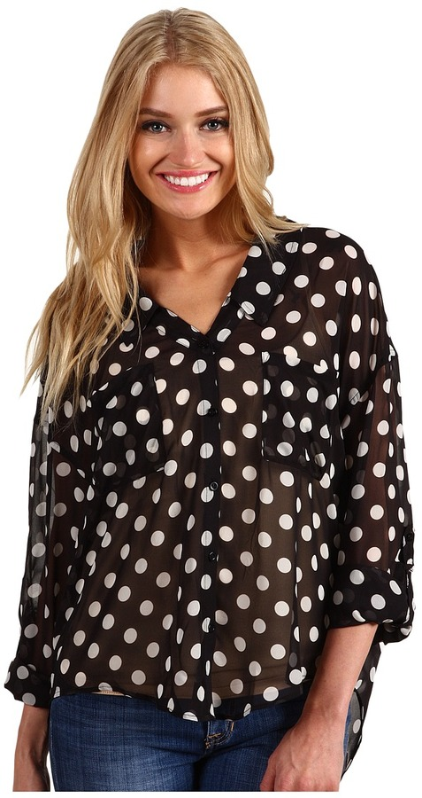 Free People - Polka Dot Easy Rider Button Up