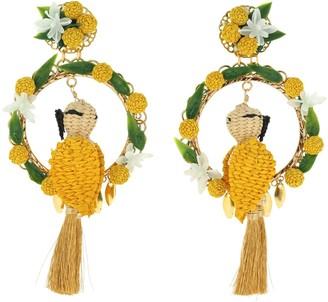 Mercedes Salazar Cacatua Rey En El Nance Clip-on Earrings