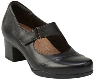 Clarks Artisan Leather Mary Jane Pumps - Rosalyn Wren