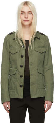 DSQUARED2 Green Twill Military Jacket